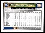 2008 Topps Updates #144  Robinson Tejeda  Back Thumbnail