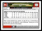 2008 Topps Updates #49  Ryan Ludwick  Back Thumbnail
