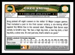 2008 Topps Updates #170  Greg Smith  Back Thumbnail
