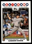 2008 Topps Updates #286   -  Aaron Cook All-Star Front Thumbnail
