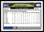 2008 Topps Updates #234  Carl Pavano  Back Thumbnail