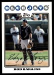 2008 Topps Updates #187  Rod Barajas  Front Thumbnail