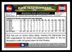 2008 Topps Updates #266  Rob Mackowiak  Back Thumbnail