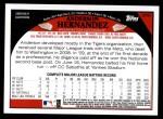 2009 Topps Update #91  Anderson Hernandez  Back Thumbnail