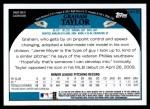 2009 Topps Update #133  Graham Taylor  Back Thumbnail