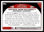 2009 Topps Update #192   -  Prince Fielder HR Derby Back Thumbnail