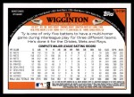 2009 Topps Update #194  Ty Wigginton  Back Thumbnail