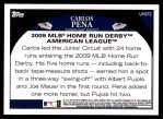 2009 Topps Update #272  Carlos Pena  Back Thumbnail