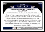 2009 Topps Update #298  Jason Bartlett  Back Thumbnail