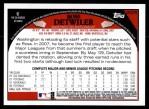 2009 Topps Update #279  Ross Detwiler  Back Thumbnail
