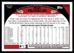 2009 Topps Update #285  Ryan Franklin  Back Thumbnail