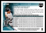 2010 Topps Update #164  Gaby Sanchez  Back Thumbnail