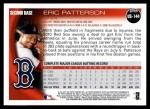 2010 Topps Update #144  Eric Patterson  Back Thumbnail