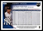 2010 Topps Update #151  Kerry Wood  Back Thumbnail