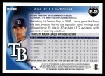 2010 Topps Update #69  Lance Cormier  Back Thumbnail