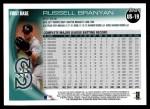 2010 Topps Update #19  Russell Branyan  Back Thumbnail