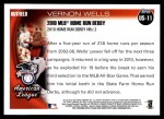 2010 Topps Update #11  Vernon Wells  Back Thumbnail