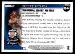 2010 Topps Update #44  Scott Rolen  Back Thumbnail