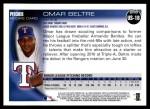 2010 Topps Update #18  Omar Beltre   Back Thumbnail