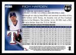 2010 Topps Update #81  Rich Harden  Back Thumbnail