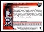 2010 Topps Update #323  Ryan Kalish  Back Thumbnail