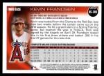 2010 Topps Update #283  Kevin Frandsen  Back Thumbnail
