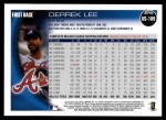 2010 Topps Update #189  Derrek Lee  Back Thumbnail