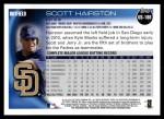 2010 Topps Update #186  Scott Hairston  Back Thumbnail