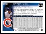 2010 Topps Update #299  Xavier Nady  Back Thumbnail
