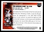 2010 Topps Update #305  Cliff Lee  Back Thumbnail