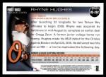 2010 Topps Update #282  Rhyne Hughes  Back Thumbnail