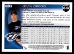 2010 Topps Update #218  Kevin Gregg  Back Thumbnail