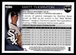 2010 Topps Update #308  Matt Thornton  Back Thumbnail