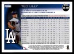 2010 Topps Update #222  Ted Lilly  Back Thumbnail