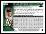 2010 Topps Update #239  Gabe Gross  Back Thumbnail