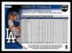 2010 Topps Update #264  Vicente Padilla  Back Thumbnail