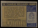 1971 Topps #158  Charlie Williams  Back Thumbnail