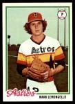 1978 Topps #358  Mark Lemongello  Front Thumbnail