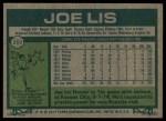 1977 Topps #269  Joe Lis  Back Thumbnail