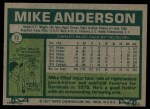 1977 Topps #72  Mike Anderson  Back Thumbnail