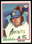 1978 Topps #233  Dick Pole  Front Thumbnail