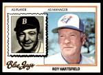 1978 Topps #444  Roy Hartsfield  Front Thumbnail