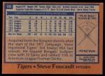 1978 Topps #68  Steve Foucault  Back Thumbnail