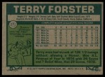 1977 Topps #271  Terry Forster  Back Thumbnail