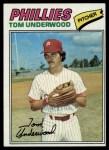 1977 Topps #217  Tom Underwood  Front Thumbnail