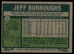 1977 Topps #55  Jeff Burroughs  Back Thumbnail