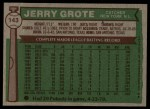 1976 Topps #143  Jerry Grote  Back Thumbnail
