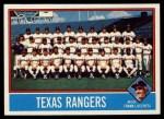 1976 Topps #172   -  Frank Lucchesi Rangers Team Checklist Front Thumbnail
