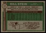 1976 Topps #131  Bill Stein  Back Thumbnail