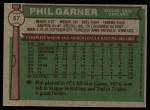 1976 Topps #57  Phil Garner  Back Thumbnail